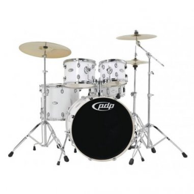 Batterie acoustique Drum-set mainstage gloss white chrome hardware Pdp