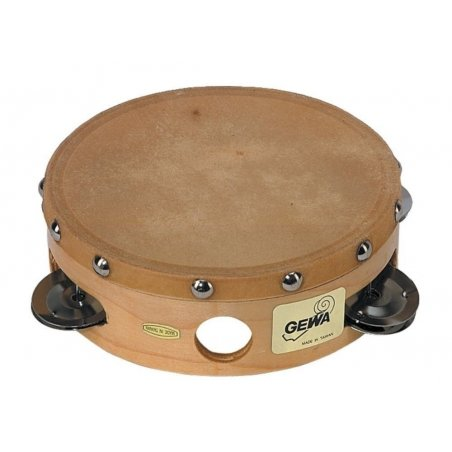 Tambourin traditionnel avec cymbalettes 6''