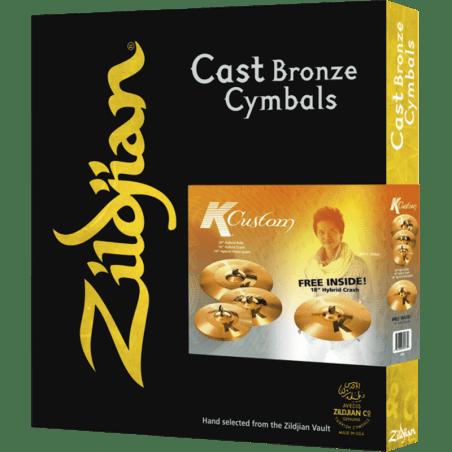 """Cymbale Zildjian pack k custom hybrid 14""""-16""""-20"""" +18"""" Zildjian"""