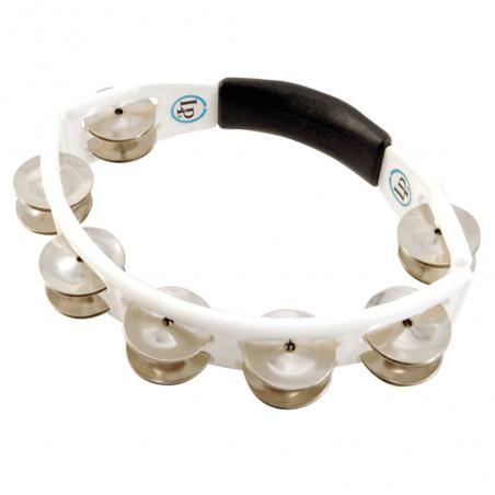 Percussion Tambourins cyclop à main cymbalettes acier, blanc lp Latin