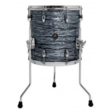 "GRETSCH FLOOR TOM RENOWN MAPLE SILVER OYSTER 14""x14"""
