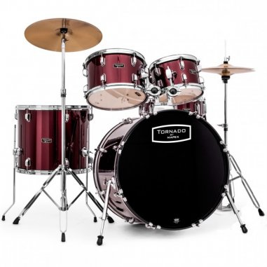 """MAPEX TORNADO FUSION RED 20""""/ 5 PCS KIT COMPLET"""