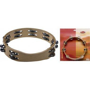 STAGG Tambourin en bois sans peau 10'', 2 rangées de cymbalettes