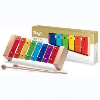 Percussion Métallophone avec 8 lames de différentes couleurs Eveil musical