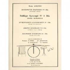 DANTE AGOSTINI Solfège syncope Volume 1 bis - Méthode de batterie