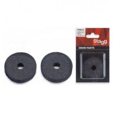 Pieces detachees 4 x rondelles en feutre pour tilteur de charleston (en emballage blister)