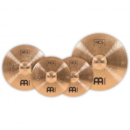 Cymbale Jeu bronze meinl hcs 14/16/20 +crash 18'' Meinl
