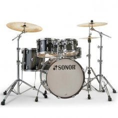 "SONOR AQ2 STAGE TRANSPARENT STAIN BLACK  22""/5PCS"