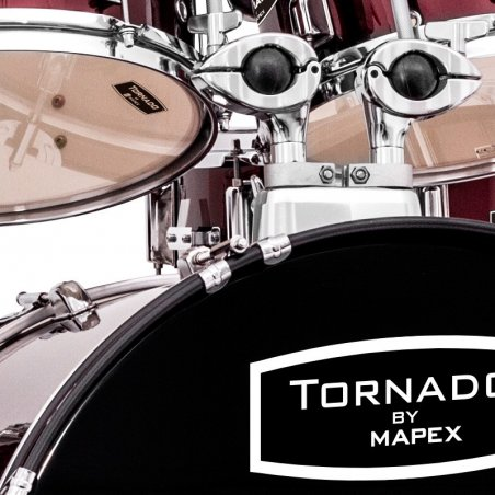 """Batterie acoustique Mapex tornado fusion red 20""""/ 5 pcs kit complet Mapex"""