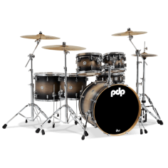 PDP CONCEPT MAPLE SATIN CHARCOAL BURST 8/10/12/ft14/ft16/gc22 + cc 14x5,5