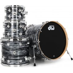 """DW COLLECTOR DRUMSET BLACK OYSTER GLASS 22""""/ 4 PCS"""