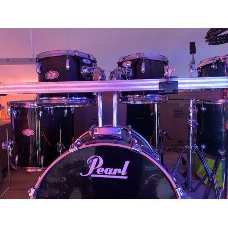 """Occasions Pearl vision occasion black wood 22""""/5pcs + rack & accessoires Batteries acoustiques"""